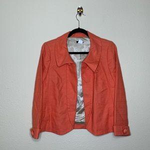 J Crew Ottoman Aubrey Orange Swing Jacket
